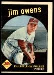 1959 Topps #503  Jim Owens  Front Thumbnail