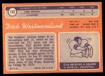1970 Topps #192  Dick Westmoreland  Back Thumbnail