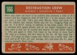 1959 Topps #166   -  Minnie Minoso / Rocky Colavito / Larry Doby Destruction Crew Back Thumbnail