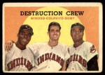 1959 Topps #166   -  Minnie Minoso / Rocky Colavito / Larry Doby Destruction Crew Front Thumbnail