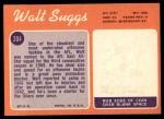 1970 Topps #204  Walt Suggs  Back Thumbnail
