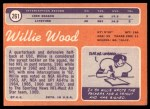 1970 Topps #261  Willie Wood  Back Thumbnail