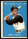 1961 Topps #486   -  Dick Groat Most Valuable Player Front Thumbnail