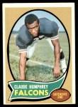 1970 Topps #156  Claude Humphrey  Front Thumbnail