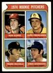 1974 Topps #599 SM  -  Dave Freisleben / Ron Diorio / Frank Riccelli / Greg Shanahan Rookie Pitchers   Front Thumbnail