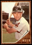 1962 Topps #215  Woodie Held  Front Thumbnail