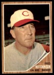 1962 Topps #172 GRN Fred Hutchinson  Front Thumbnail