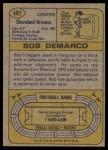 1974 Topps #491  Bob DeMarco  Back Thumbnail
