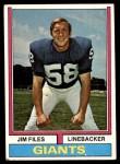 1974 Topps #394  Jim Files  Front Thumbnail