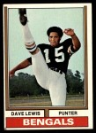 1974 Topps #236  Dave Lewis  Front Thumbnail
