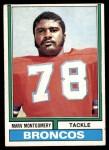 1974 Topps #37  Marv Montgomery  Front Thumbnail