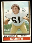 1974 Topps #42 ONE Del Williams  Front Thumbnail