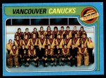 1979 Topps #259   Canucks Team Checklist Front Thumbnail