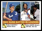 1984 Topps #133  Jim Rice / Dale Murphy / Cecil Cooper  Front Thumbnail