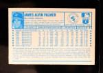 1974 Kellogg's #6  Jim Palmer  Back Thumbnail