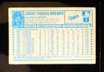 1974 Kellogg's #14  Jim Brewer  Back Thumbnail