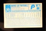 1974 Kellogg's #26  Wayne Twitchell  Back Thumbnail