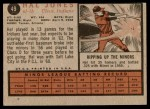 1962 Topps #49  Hal Jones  Back Thumbnail