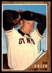 1962 Topps #329  Bobby Bolin  Front Thumbnail