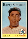 1958 Topps #299  Harry Simpson  Front Thumbnail