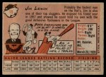 1958 Topps #15  Jim Lemon  Back Thumbnail