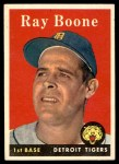 1958 Topps #185  Ray Boone  Front Thumbnail