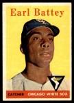 1958 Topps #364  Earl Battey  Front Thumbnail
