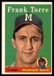 1958 Topps #117  Frank Torre  Front Thumbnail