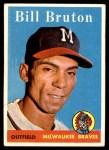 1958 Topps #355  Bill Bruton  Front Thumbnail