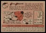 1958 Topps #258  Carl Erskine  Back Thumbnail
