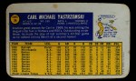 1970 Topps Super #29  Carl Yastrzemski  Back Thumbnail
