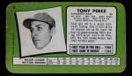 1971 Topps Super #6  Tony Perez  Back Thumbnail