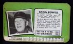 1971 Topps Super #5  Boog Powell  Back Thumbnail