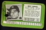 1971 Topps Super #26  Roy White  Back Thumbnail