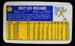 1970 Topps Super #40  Billy Williams  Back Thumbnail