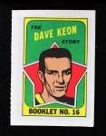 1971 Topps O-Pee-Chee Booklets #16  Dave Keon  Front Thumbnail