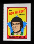 1971 Topps O-Pee-Chee Booklets #18  Rod Gilbert  Front Thumbnail