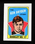 1971 Topps O-Pee-Chee Booklets #17  Ken Dryden  Front Thumbnail