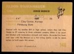 1961 Fleer #148  Eldon Danenhauer  Back Thumbnail