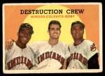 1959 Topps #166   -  Minnie Minoso / Rocky Colavito / Larry Doby Destruction Crew Front Thumbnail