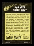 1964 Topps / Bubbles Inc Outer Limits #16   Man with Super Sight Back Thumbnail