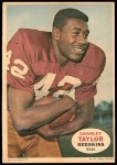 1968 Topps Poster #5  Charley Taylor  Front Thumbnail