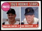 1969 Topps #468 WN  -  Bob Robertson / Del Canton Pirates Rookies Front Thumbnail