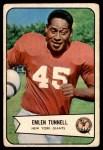 1954 Bowman #102  Emlen Tunnell  Front Thumbnail