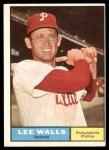 1961 Topps #78  Lee Walls  Front Thumbnail