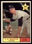 1961 Topps #124  J.C. Martin  Front Thumbnail