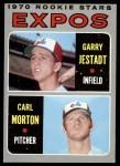 1970 Topps #109   -  Carl Morton / Garry Jestadt Expos Rookies Front Thumbnail