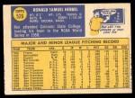 1970 Topps #526  Ron Herbel  Back Thumbnail
