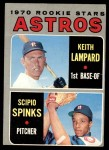1970 Topps #492   -  Keith Lampard / Scipio Spinks Astros Rookies Front Thumbnail