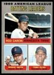 1970 Topps #62   -  Rod Carew / Tony Oliva / Reggie Smith AL Batting Leaders Front Thumbnail